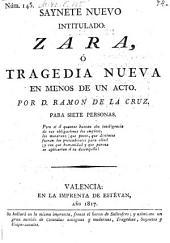 Saynete nuevo intitulado: Zara (etc.) - Valencia, Estevan 1817