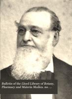 Bulletin of the Lloyd Library of Botany  Pharmacy and Materia Medica  no  19  1912 PDF