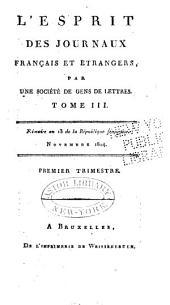 L'Esprit des journaux, françois et étrangers: Numéros11à12