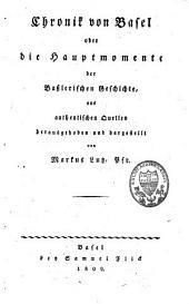 Chronik von Basel oder die Hauptmomente der basslerischen Geschichte