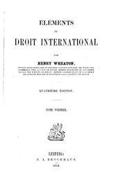 Eléments du droit international: Volume1