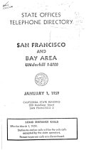Official Telephone Directory  State Offices  San Francisco PDF