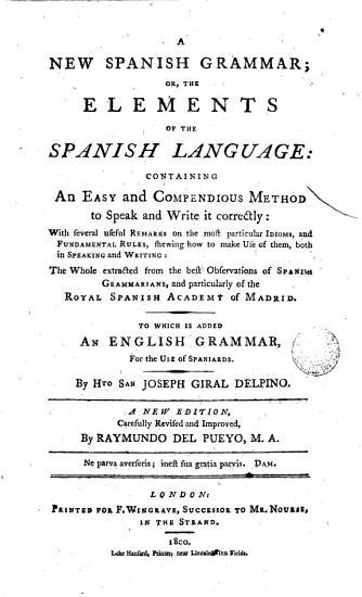 A Spanish Grammar    PDF