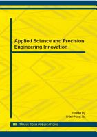 Applied Science and Precision Engineering Innovation PDF