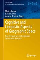 Cognitive and Linguistic Aspects of Geographic Space PDF