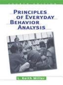 Principles of Everyday Behavior Analysis Book