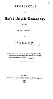 Prospectus of a Joint Stock Company, for the Improvement of Ireland