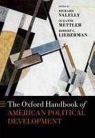 The Oxford Handbook of American Political Development PDF