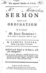 The Approved Minister of God. A Sermon [on 2 Corinthians Vi. 4] Preached at the Ordination of the Reverend J. Rodgers