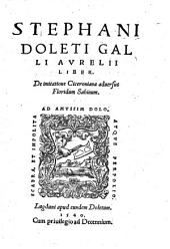 De imitatione Ciceroniana adversus Floridum Sabinum