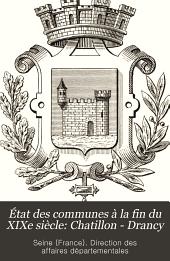 État des communes à la fin du XIXe siècle: Chatillon - Drancy