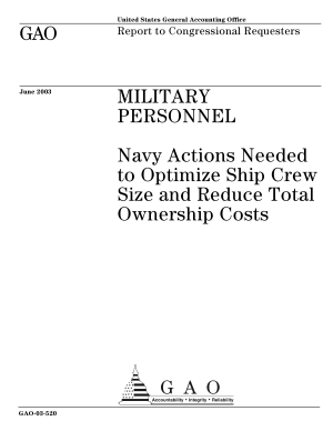 Military personnel Navy actions needed to optimize ship crew size and reduce total ownership costs