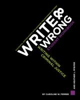 Write   Wrong  Writing Within Criminal Justice  A Student Workbook PDF