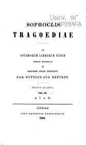 Sophoclis Tragoediae: Volumes 3-4
