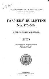 Farmers' Bulletin: Issues 476-500