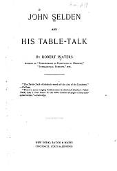 John Selden and His Table-talk