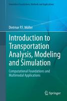 Introduction To Transportation Analysis Modeling And Simulation