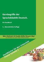 Kernbegriffe der Sprachdidaktik Deutsch PDF