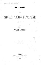 Poesie di Catullo, Tibullo e Properzio