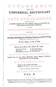 Cyclopaedia  Or an Universal Dictionary of Arts and Sciences  etc   5  Ed PDF