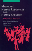 Managing Human Resources in the Human Services