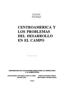 Centroam  rica y los problemas del desarrollo en el campo PDF
