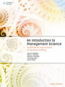 An Introduction to Management Science  3rd Edition