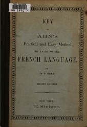 Key to Ahn's Practical and Easy Method of Learning the French Language