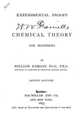 Experimental Proofs of Chemical Theory for Beginners