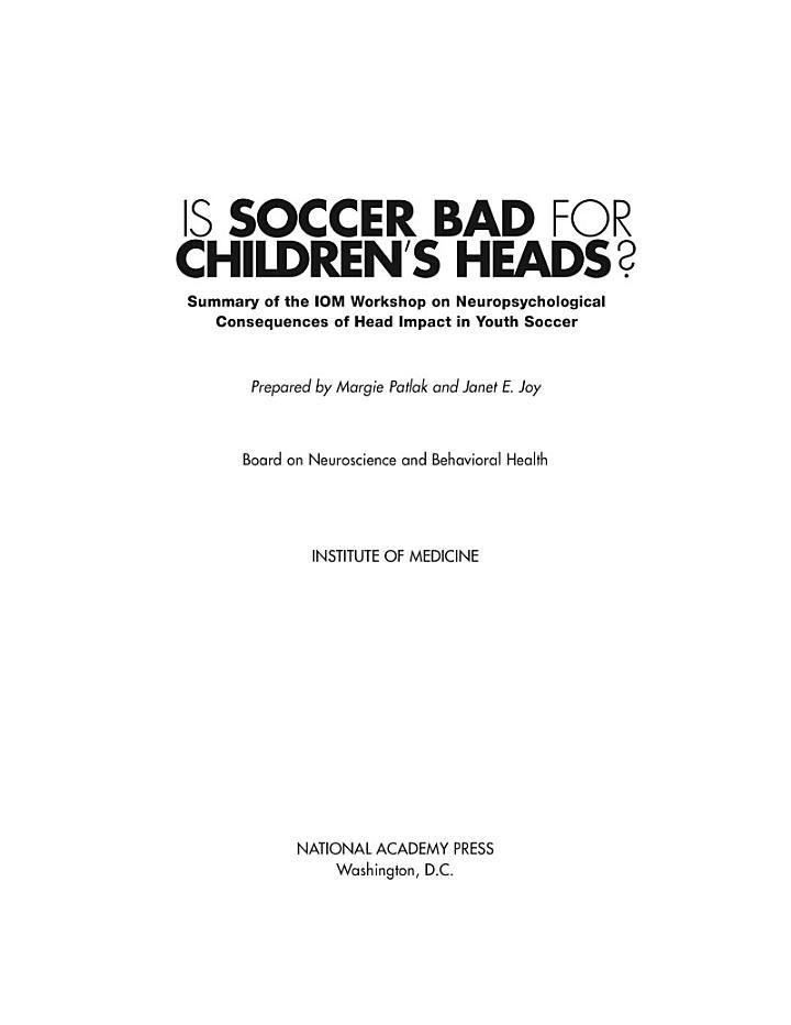 Is Soccer Bad for Children's Heads?