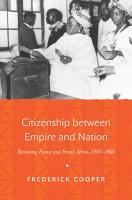 Citizenship between Empire and Nation PDF