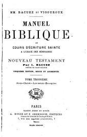 Manuel biblique: Nouveau Testament