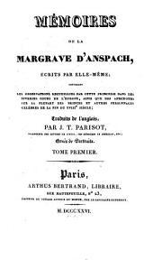 Mémoires de la Margrave d'Anspach