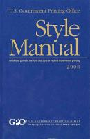 U  S  Government Printing Office   Style Manual PDF