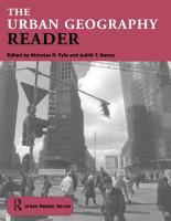 The Urban Geography Reader PDF