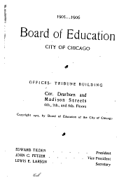 Directory of the Public Schools of the City of Chicago