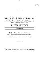 The Complete Works of William Shakespeare: King Henry VI, pt.1-2
