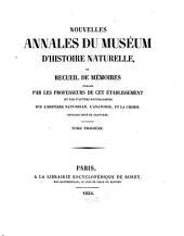 Nouvelles annales du Muséum d'Histoire Naturelle: Volume 3