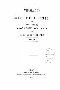 Verslagen en mededelingen van de Koninklijke Vlaamse Academie voor Taal  en Letterkunde PDF