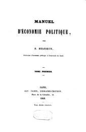 Manuel d'économie politique: Volume2