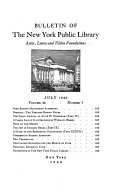 Download Bulletin of the New York Public Library  Astor  Lenox and Tilden Foundations Book