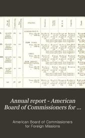 Annual Report - American Board of Commissioners for Foreign Missions: Volumes 79-82