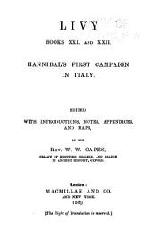 Books XXI and XXII: Hannibal's first campaign in Italy