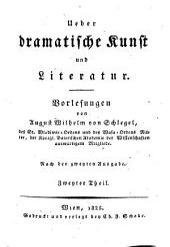Über dramatische Kunst und Literatur. Nach der 2. Ausg. Wien 1825. 4 Bd