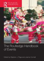 The Routledge Handbook of Events PDF