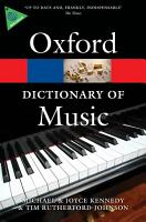 The Oxford Dictionary of Music PDF