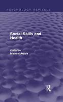 Social Skills and Health  Psychology Revivals  PDF