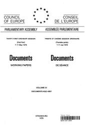 Documents Working Papers Volume III