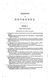 Elements of Geometry: Containing the First Six Books of Euclid, with a Supplement on the Quadrature of the Circle, and the Geometry of Solids : to which are Added, Elements of Plane and Spherical Trigonometry