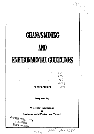 Ghana s Mining and Environmental Guidelines PDF